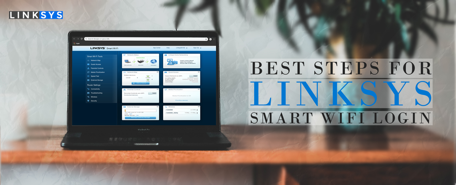 Easy Steps for Linksys router smart wi-fi login